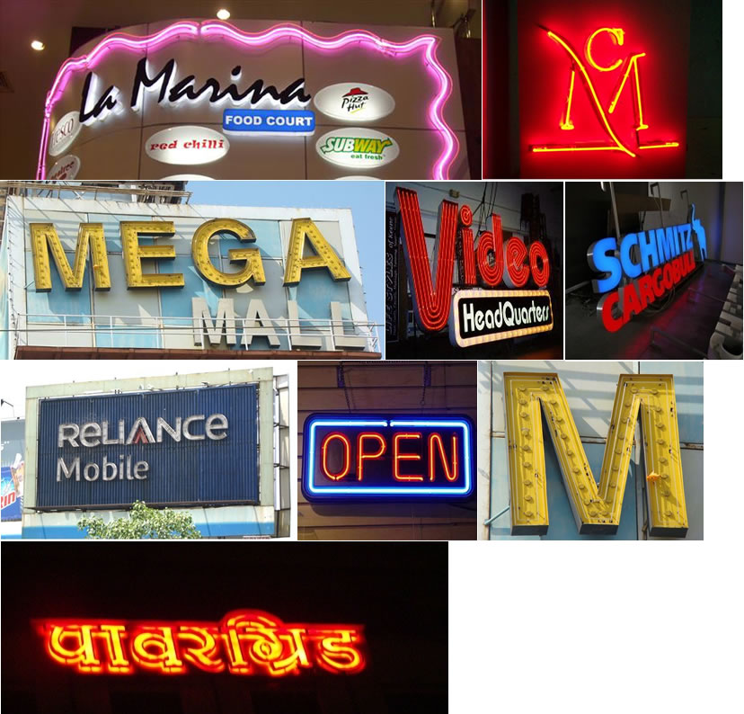 Neon Sign Board / Neon Animated 3d Hoardings